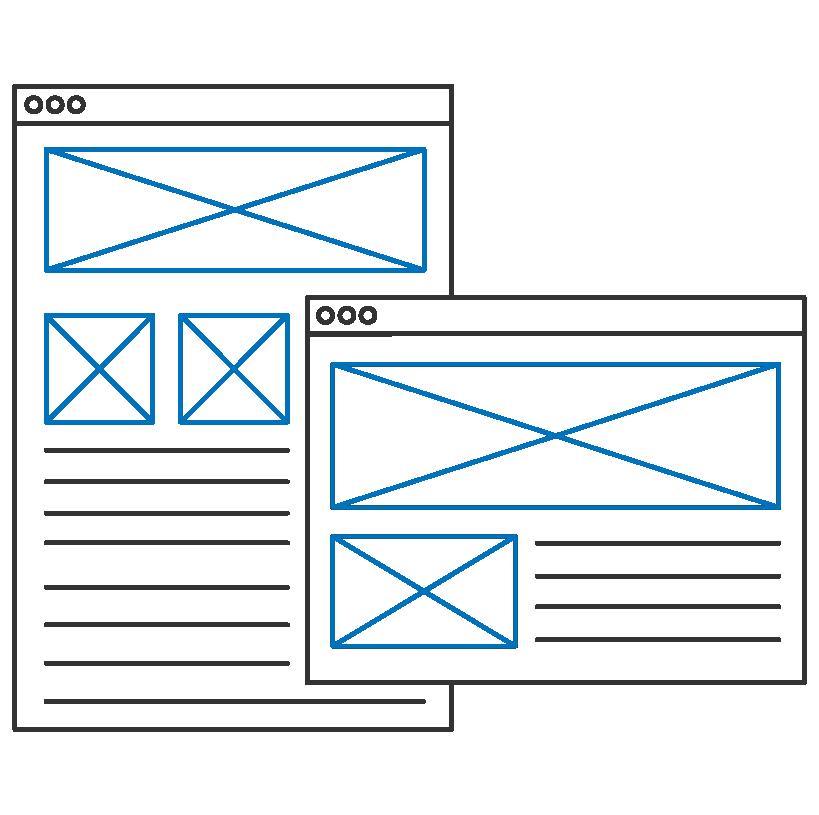 Custom software design mockups