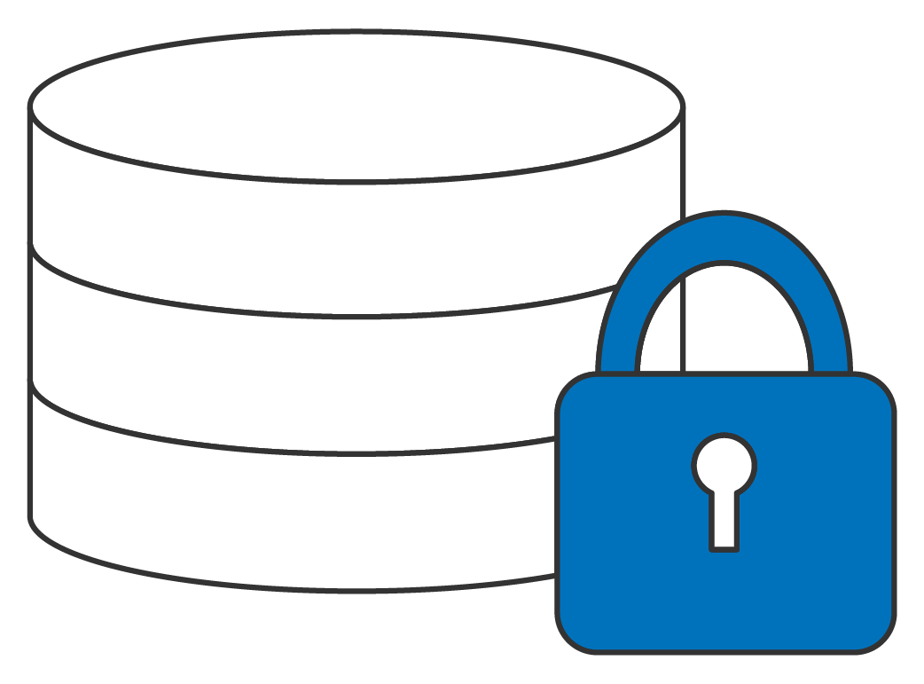 Database with closed lock