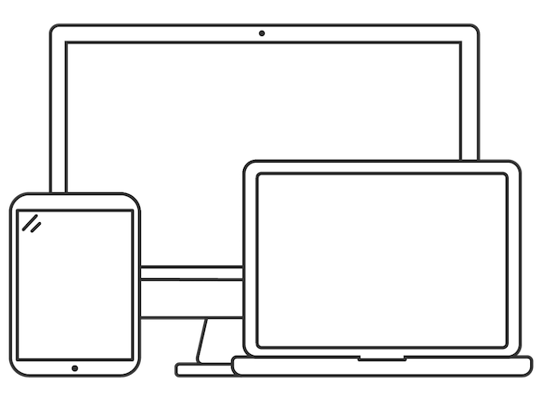 Desktop, laptop, and mobile devices