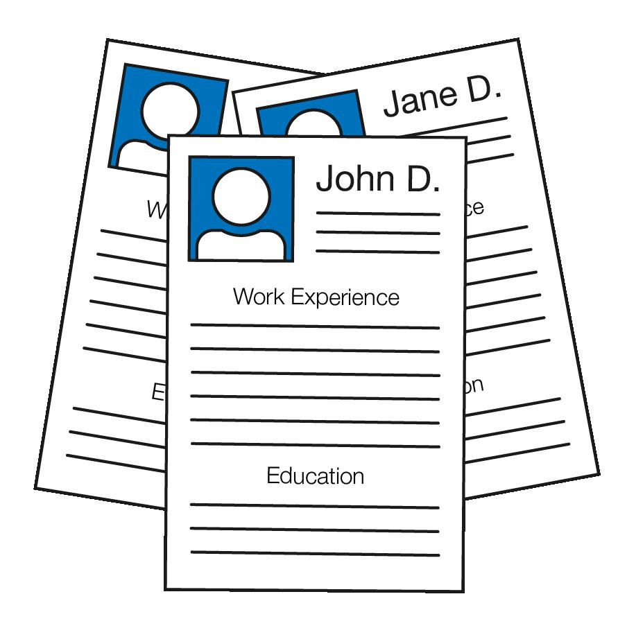 Three paper resumes