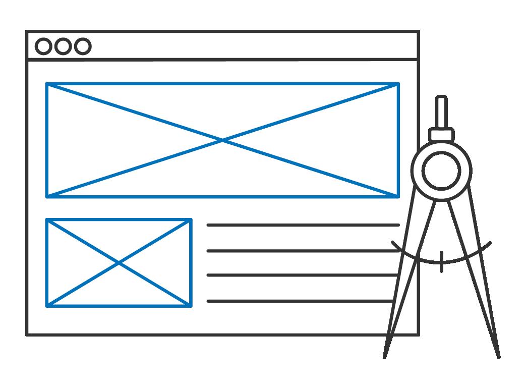 Custom software design mockup