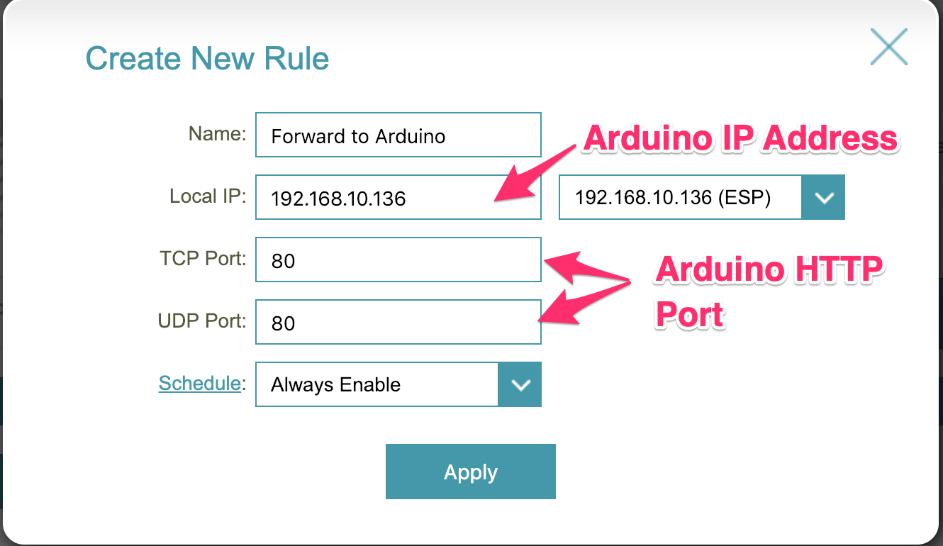 Command Your Arduino from Anywhere, Part 1 - Port Forwarding